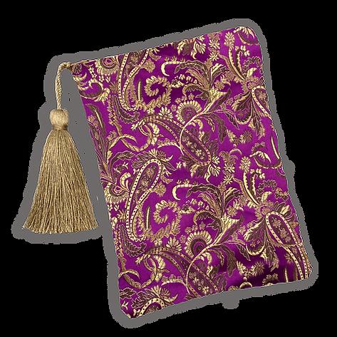 Purple and Gold Brocade Paisley Tarot Ba
