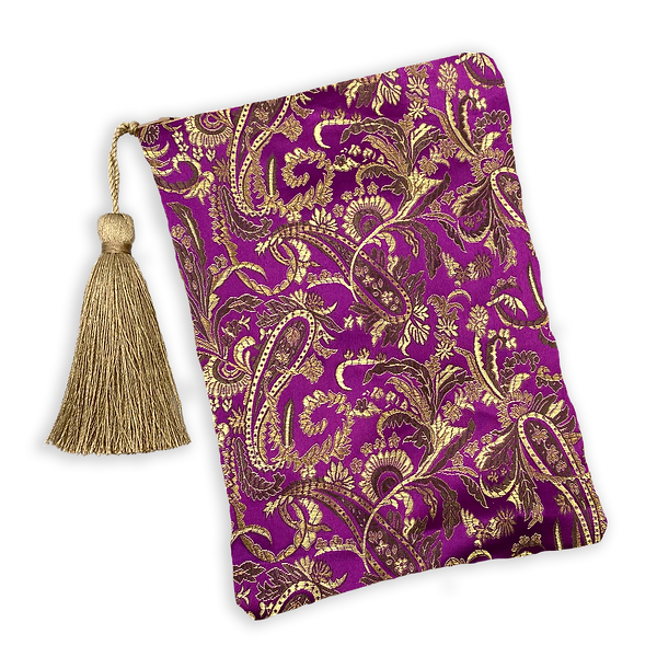 Purple and Gold Brocade Paisley Tarot Ba