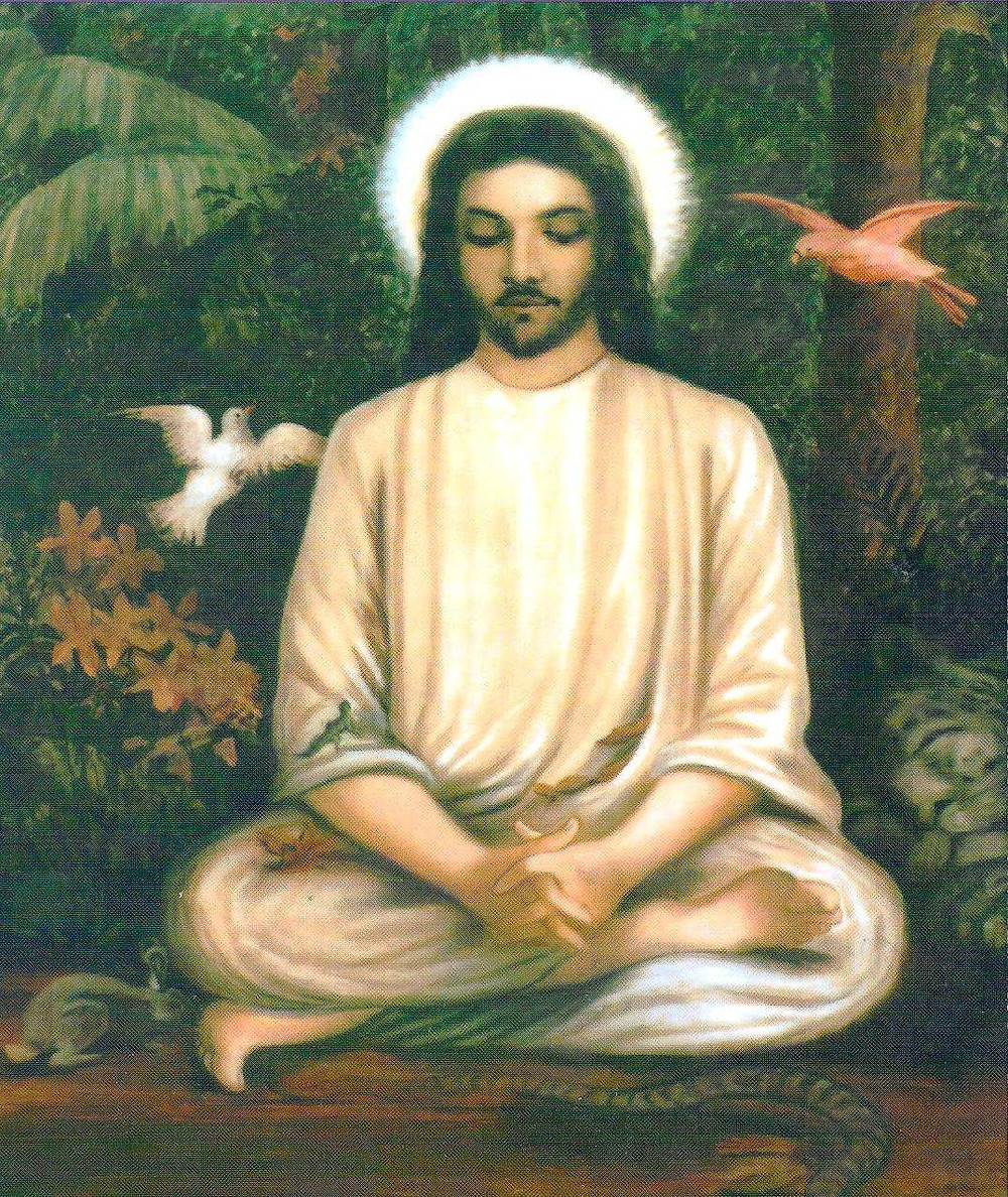 Jesus Meditating In State of Divine Union, Samadhi, Gnosis