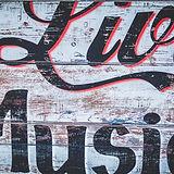 Holz Live-Musik-Zeichen