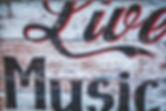 Sinal de madeira Live Music