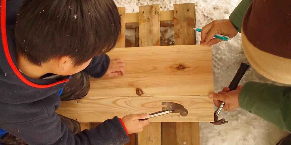 2019.1.12(土)〜13(日)DIYボード作りとプチバックカントリーキャンプ