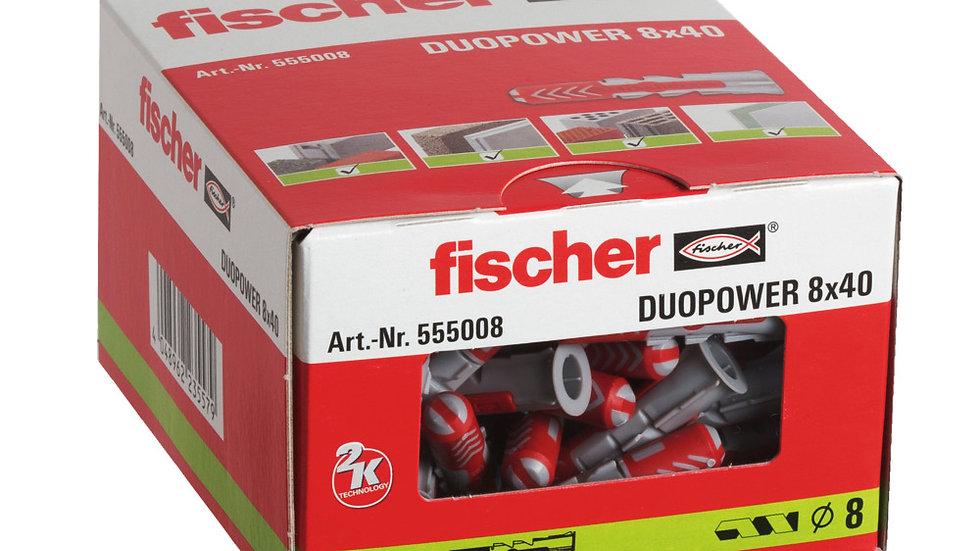 """Fischer דיבל 40*8 מ""""מ 100 יחידות של"""