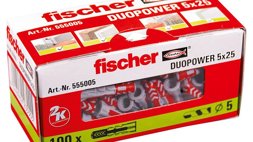 """Fischer  דיבל 5 מ""""מ 100 יחידות של"""