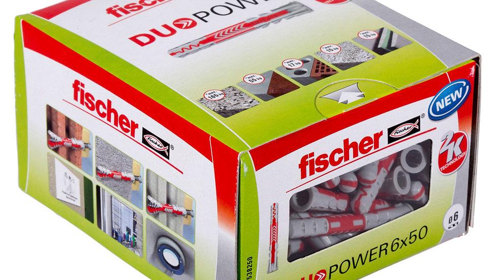 """Fischer דיבל 50 *6 מ""""מ  100 יחידות של"""