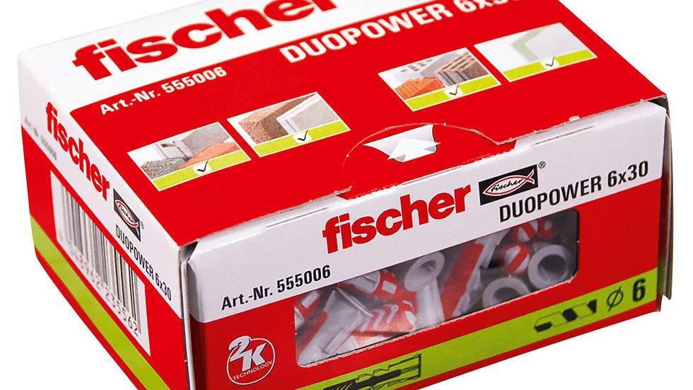 """Fischer דיבל 30*6 מ""""מ 100 יחידות של"""