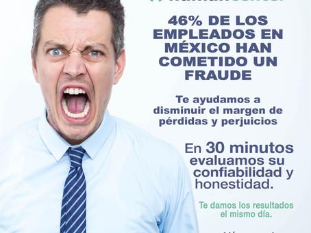 46% de los empleados en México han cometido algún tipo de fraude
