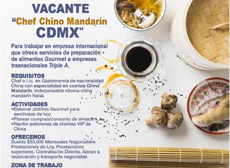 Buscamos Chef Chino Mandarin
