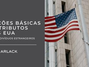 Cartilha: Noções Básicas de Tributos dos EUA para indivíduos estrangeiros