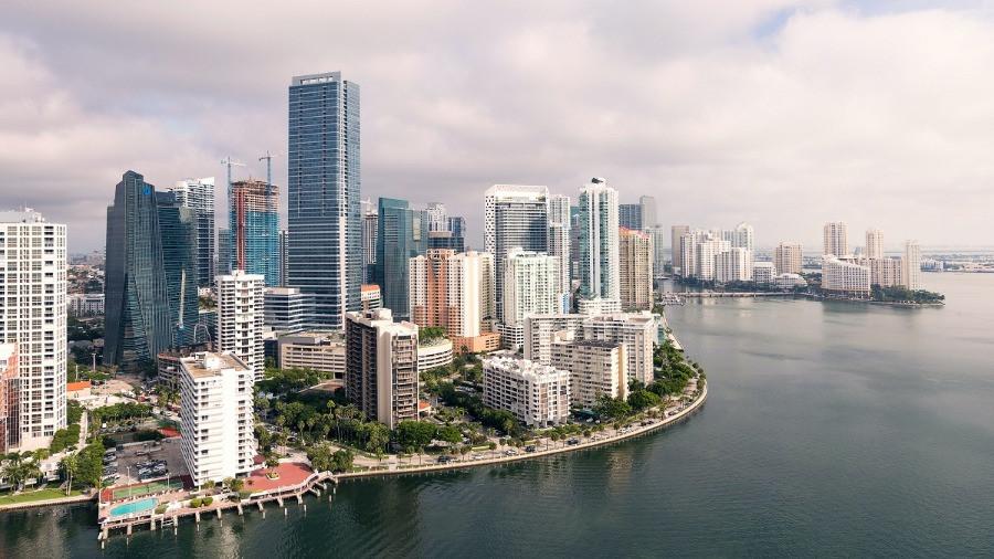 Visão de Miami durante o dia