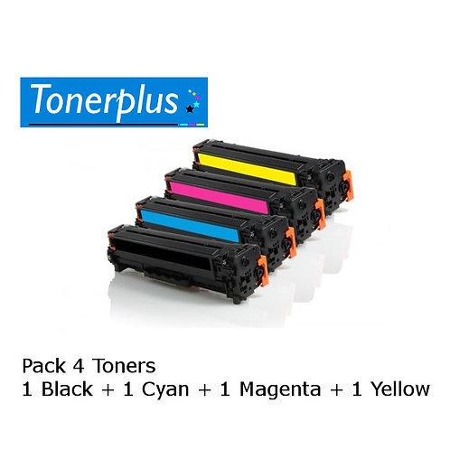 4 Toners laser compatibles TN135 Noir+Couleur