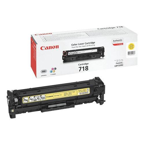 Toner laser Canon 718 Yellow Jaune Geel
