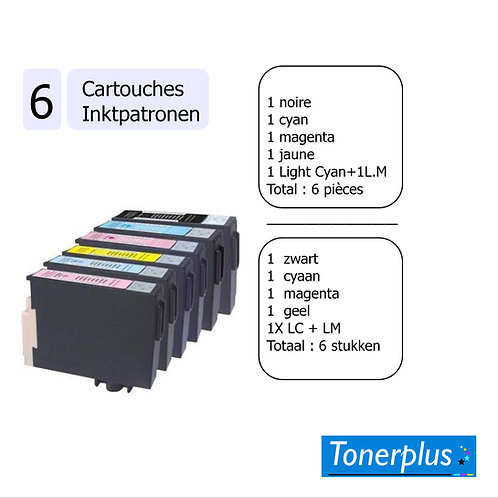 6 cartouches compatibles T2438 XL pack