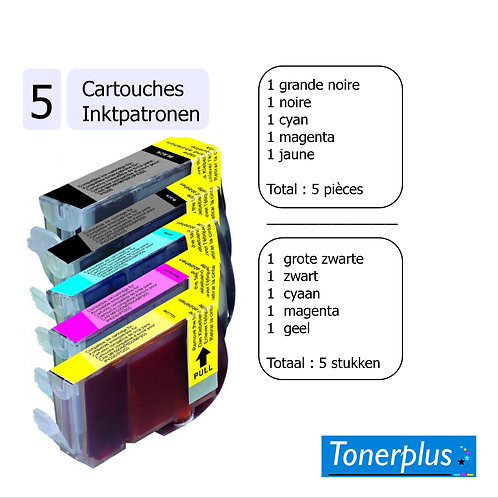 5 cartouches compatibles CLI 521/PG520