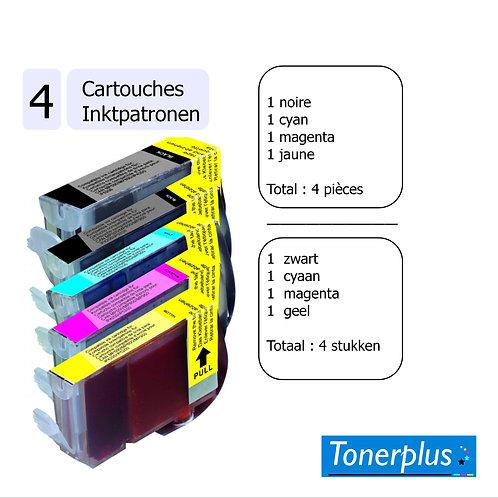 4 cartouches compatibles LC3219 xl