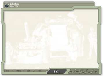 GUI Designed for U.S. Army onboarding modules