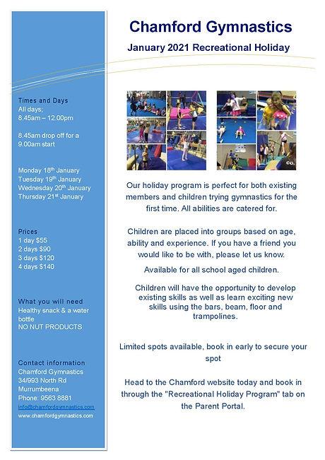 2021 January Rec Holiday Program Flyer A