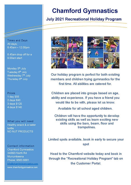 2021 July Rec Holiday Program Flyer A4.j