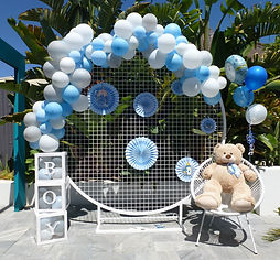 Baby Shower backdrop by iFlash Photo Booths