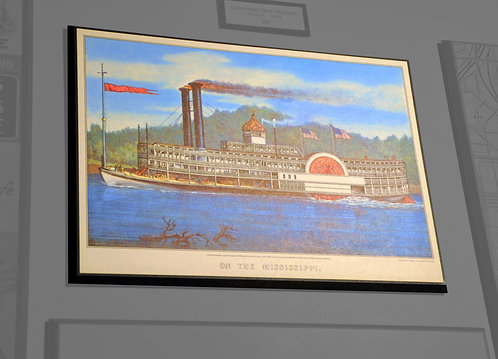 Currier & Ives, On the Mississippi, River Boat