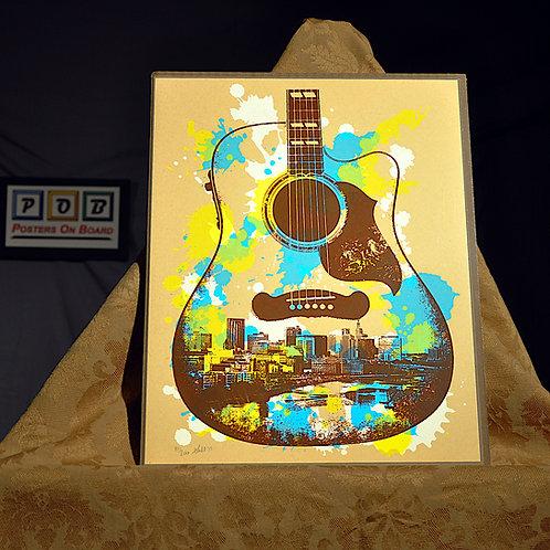 Brian Geihl, St Paul Guitar, 11x14, Limited Edition, 81-200, 25
