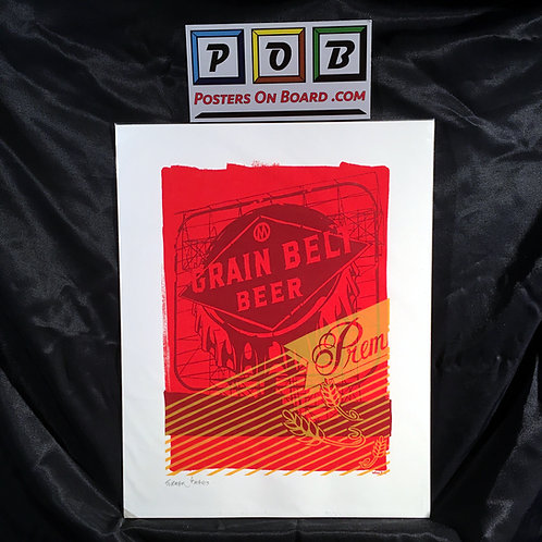 Grain Belt Beer Sign - Red