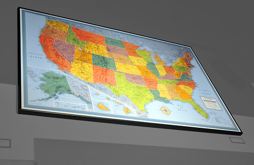 USA Map, Political