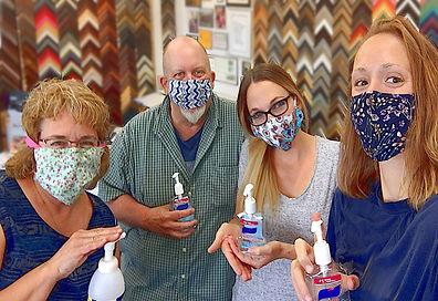 Posters On Board Framing Team, Masks, Sanitizer