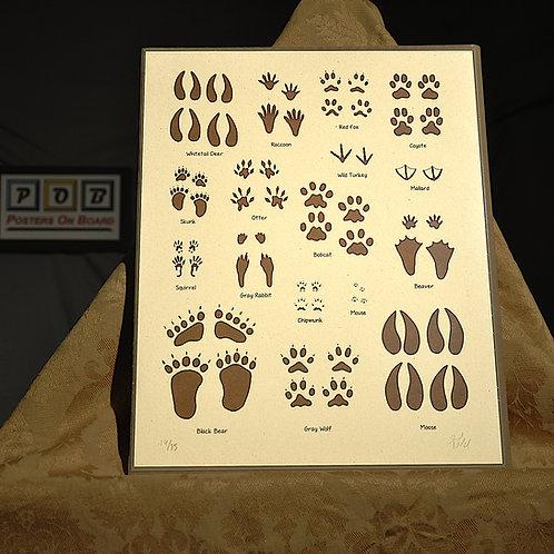 Brian Geihl, Animal Tracks, 11x14, Limited Edition, 14-75, 25