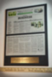 Newspaper Articles & Plaques are a Popular Combination!