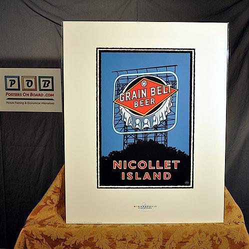 Mark Herman, Nicollet Island Grain Belt Bridge, 16x20