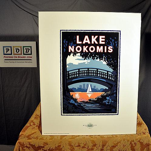 Mark Herman, Lake Nokomis Sunset Bridge, 16x20