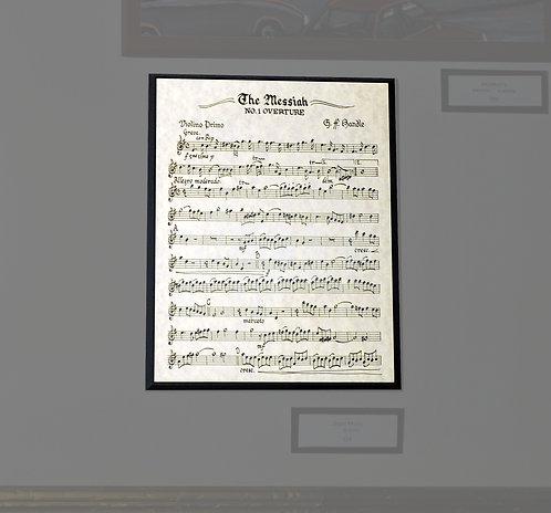 The Messiah, Sheet Music