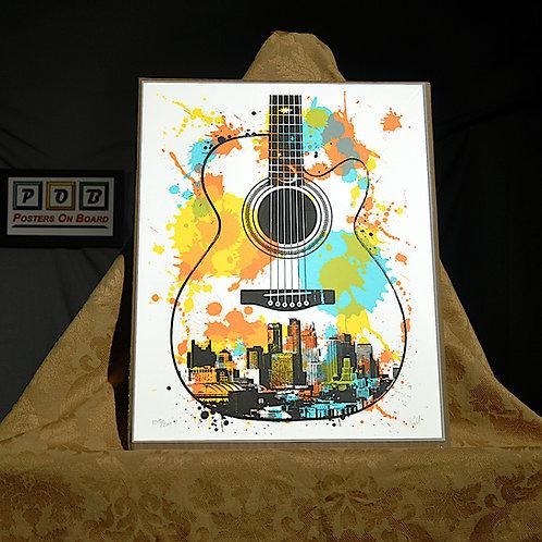 Brian Geihl, Minnesota Guitar, 11x14, Limited Edition, 163-200, 25