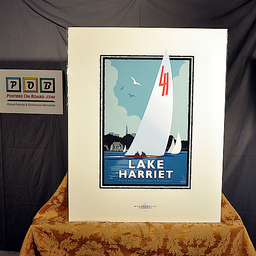 Mark Herman, Lake Harriet Sail, 16x20
