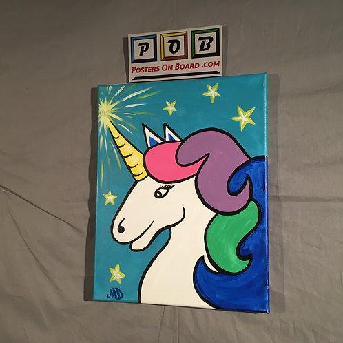 Unicorn on Teal