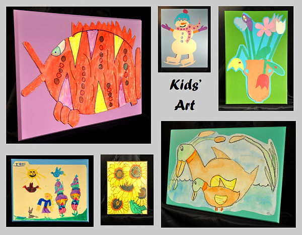 Kids' Art is some of the 'Funnest' Art to Display!