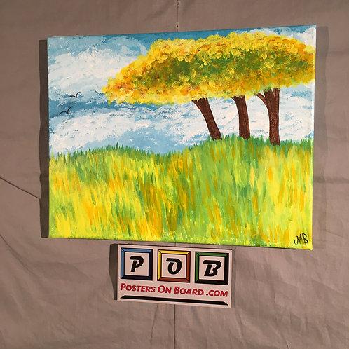 Peaceful Prairie (Yellow Trees)