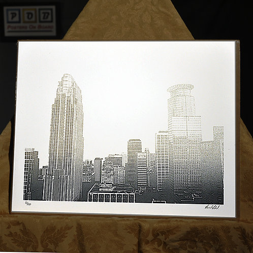 Brian Geihl, Great Heights Silver Downtown Minneapolis, 11x14, Limited Edition,