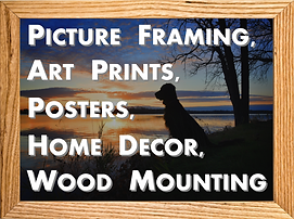 Picture Framing, Art Prints, Posters, Home Decor, Wood Mounting