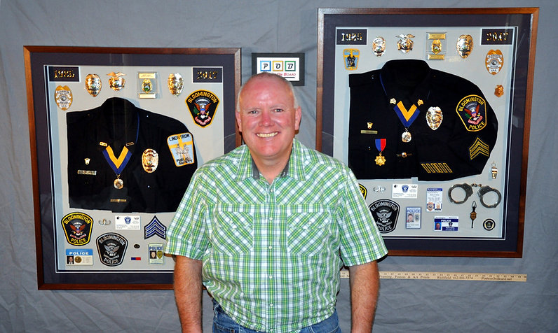 Police Officer, Retired, Shadow Box Frames