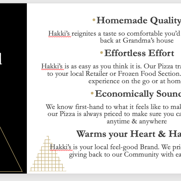 Hakki's Pizza Brand Voice