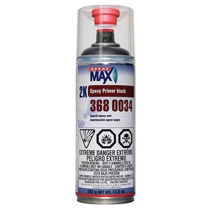 SprayMax® 3680034 2K Epoxy Primer, 13.5 oz Aerosol Can, Matte Black