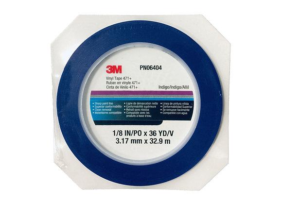 Scotch® 06404 471+ Series Fine Line Masking Tape, 36 yd x 1/8 in, 5.3 mil THK,