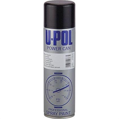 U-POL® Power Can UP0802 Spray Paint, 500 ml Aerosol Can, Matte Black
