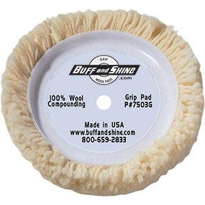"Buff and Shine 7.5"" Wool Polishing Pad"