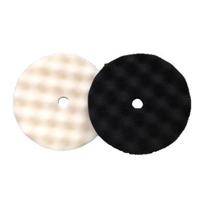 """HUD-2325 8"""" Combo Waffle Polishing Pad Pack, Black/White"""