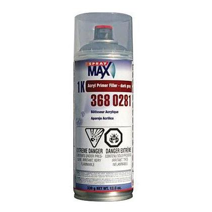 SprayMax® 3680281 Acrylic Primer Filler, 12.2 oz Aerosol Can, Matte Dark Gray