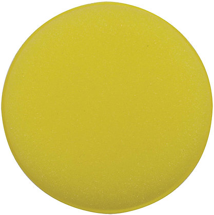 WIZARDS® 11009 Round Applicator Pad, 4 in Dia, Yellow, Foam Pad