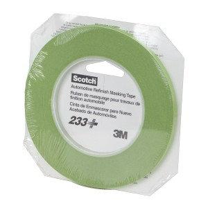 Scotch® 26344 233+ Series Performance Masking Tape, 55 m x 6 mm, Green